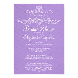 Luxury Lavender Bridal Shower Invitations Custom Announcement