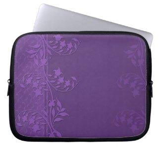 Luxury Lavender Damask Swirls Laptop Sleeve