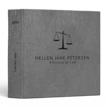 Lawyer Themed Luxury lawyer office light grey leather look 3 ring binder