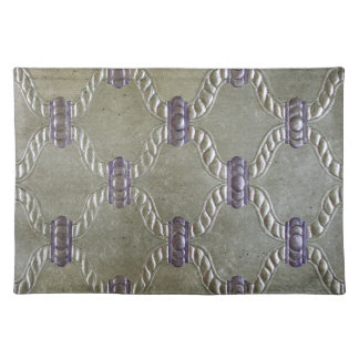 LUXURY LEATHER GILDED Silver & Purple Placemat
