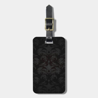 luxury leather look damask tags for luggage