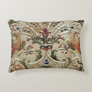 LUXURY LEATHER Silver Pheasant Gilded Accent Accent Pillow