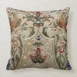 LUXURY LEATHER Silver Pheasant Gilded Cushion Throw Pillows