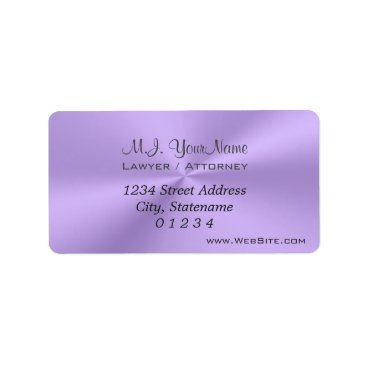 Lawyer Themed Luxury lilac chrome effect Lawyer / Attorney Label