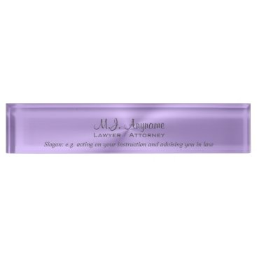 Lawyer Themed Luxury lilac chrome effect Lawyer / Attorney Name Plate