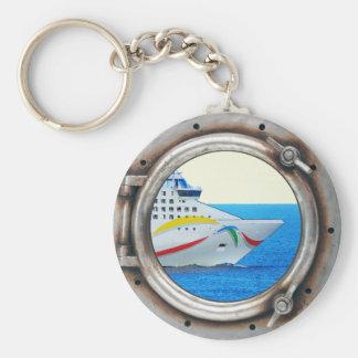 Luxury Liner Porthole View Keychain