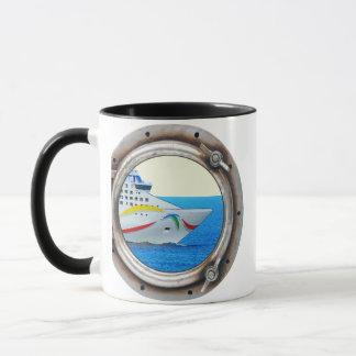 Luxury Liner Porthole View Mug