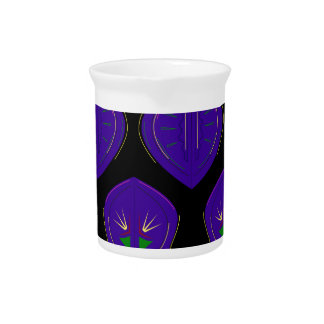 Luxury mandalas purple on black drink pitcher