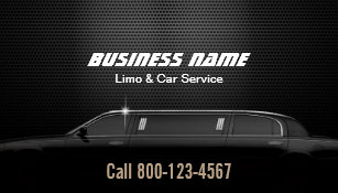 Luxury Metal Background Limo Car Service Business Card