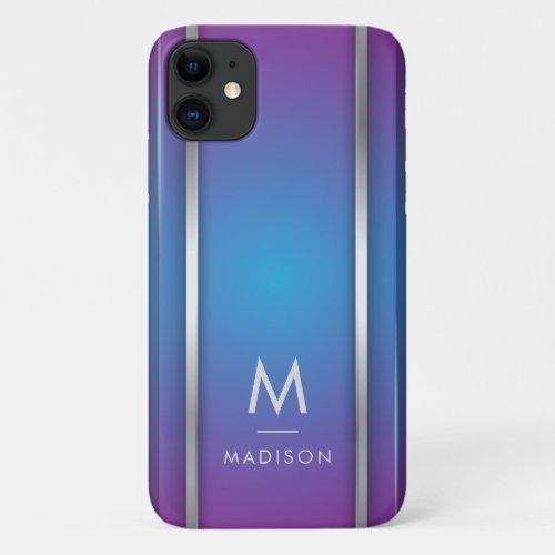 Luxury Modern Minimal Abstract Violet Blue Phone Case