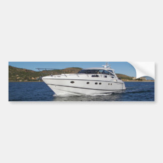 Luxury Motor Boat Bumper Sticker
