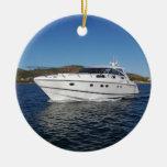 Luxury Motor Boat Christmas Ornaments