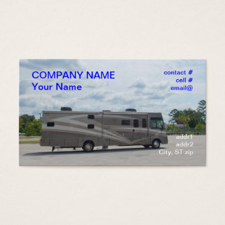 Luxury motor home business card
