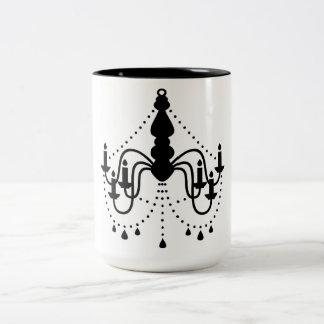 Luxury mug with chandelier