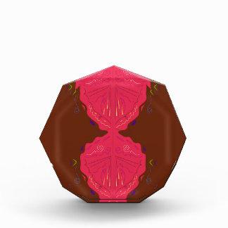 Luxury ornaments arabic red brown acrylic award