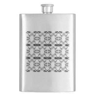 Luxury ornaments black-white flask