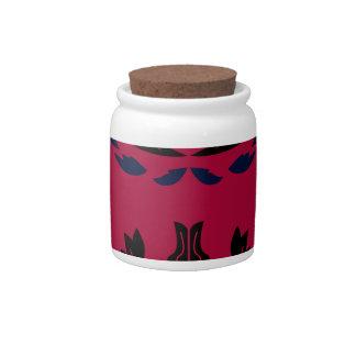 Luxury ornaments redblack candy jars
