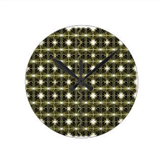 Luxury ornamnets black, gold round clock