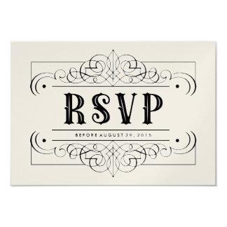 "Luxury Paper South Western RSVP Card - Black White 3.5"" X 5"" Invitation Card"