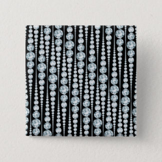 Luxury Pattern with white Diamond Stripes Pinback Button