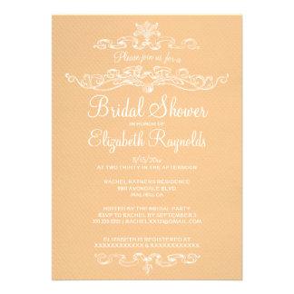 Luxury Peach Bridal Shower Invitations Personalized Invite
