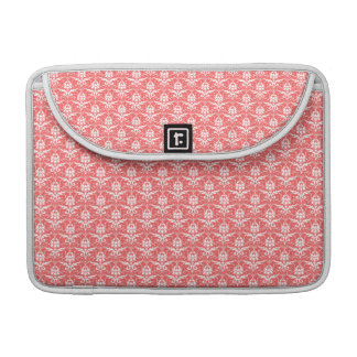 Luxury Peachy Pink Coral Damask Pattern Sleeves For MacBooks