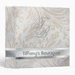 luxury pearl damask fashion boutique Binder