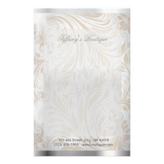 luxury pearl damask fashion  stationery