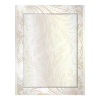 luxury pearl damask fashion stationery letterhead