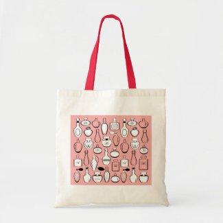 Luxury perfumes shopping bag - pink