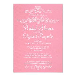 Luxury Pink Bridal Shower Invitations Custom Invitations