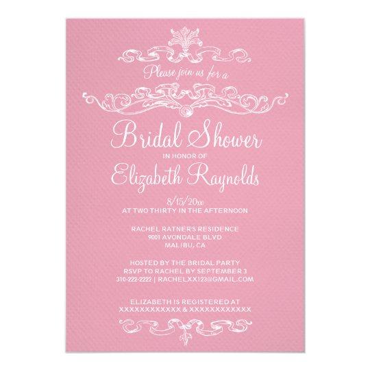 Luxury Pink Bridal Shower Invitations
