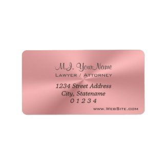 Luxury pink chrome effect Lawyer / Attorney Label