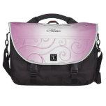 Luxury Pink Damask Swirls Laptop Bag Commuter Bag