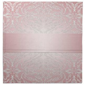 Luxury Pink Elegant Damask Napkins