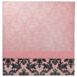 Luxury Pink Elegant Damask Napkins Printed Napkin