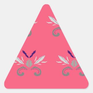 Luxury pink elements Nostalgia Triangle Sticker