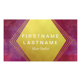 Luxury Pink & Gold Galaxy Business Card