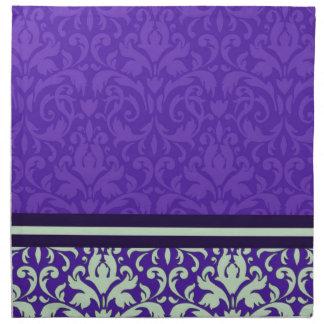 Luxury Pink Purple Damask Napkins