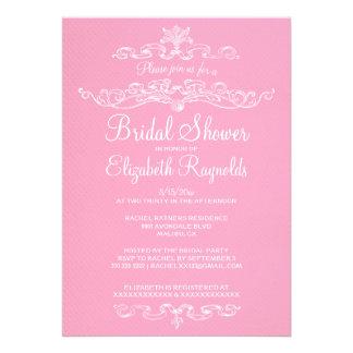 Luxury Pink & White Bridal Shower Invitations Custom Invite