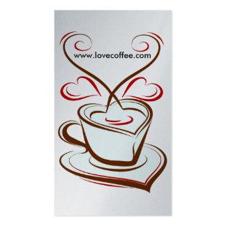 Luxury Platinum Love Coffee Cafe Business Card Templates