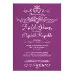 Luxury Purple Bridal Shower Invitations Invitation