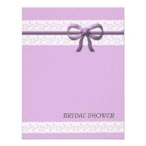 Luxury Purple Lace Bridal Shower Invitation Custom Announcements