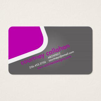 Luxury purple modern standard business card