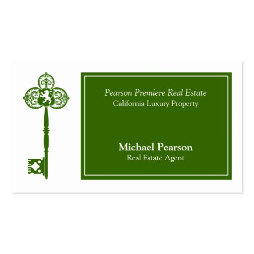 Luxury Real Estate Agent Business Card Template