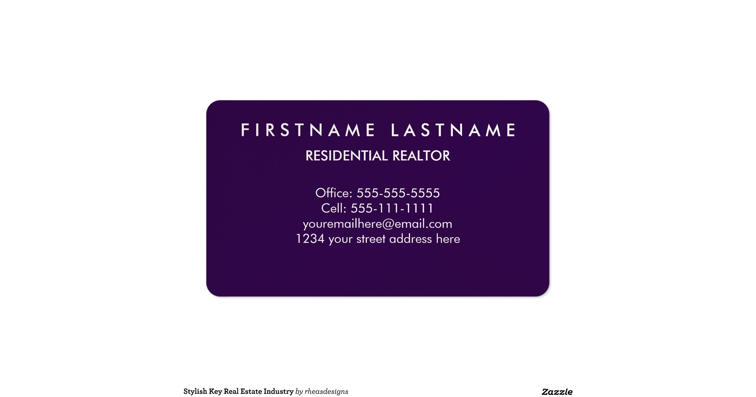 luxury real estate agent business cards
