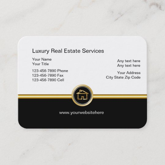 Luxury Real Estate Business Cards Zazzle
