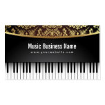 Luxury Realistic Piano Music Lessons Business Card