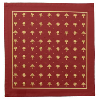 Luxury Red and Gold Vintage Damask Pattern Cloth Napkin