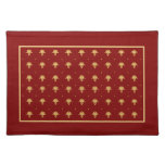 Luxury Red and Gold Vintage Damask Pattern Cloth Placemat